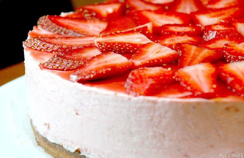 Tartas de yogur y fresas 3
